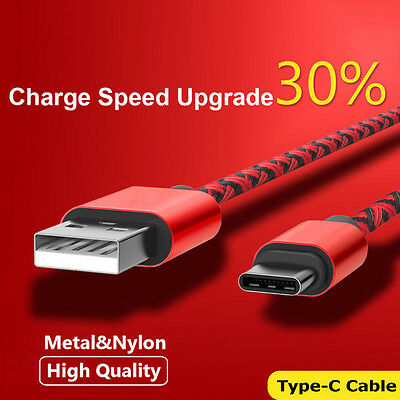 Type-C USB-C 3.1 Male Data Snyc FAST Charging Cable Samsung S9+ S8 Note9 S10plus