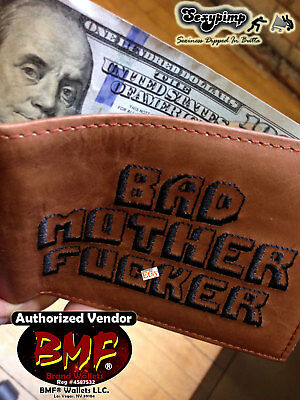 BROWN BMF® BRAND BAD MOTHER F-CKER WALLET Embroidered ***USA-Based Shipping***