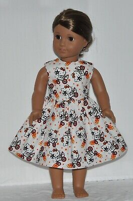 White Kiss Tricycle Doll Dress Clothes Fits American Girl Dolls