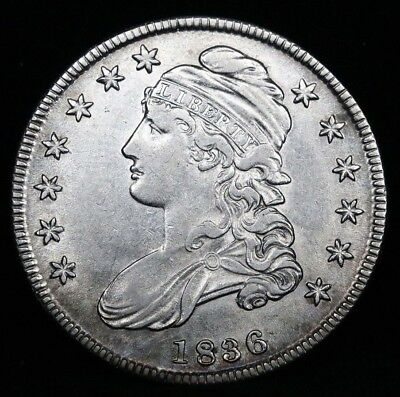 Uncirculated 1836 Capped Bust Half Dollar