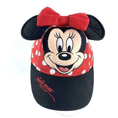 58af1352 Walt Disney World Minnie Mouse Kids Toddler Hat Red Polka Dot Bow Ears