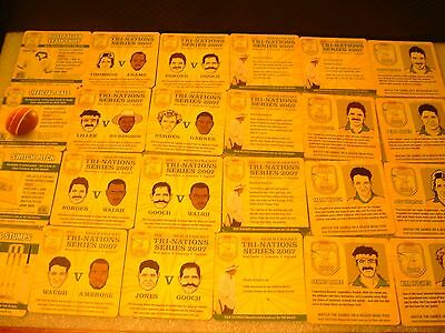 24 XXXX GOLD BEACH CRICKET COASTERS beer