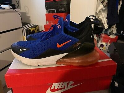 "online store c856e 04f99 MEN'S NIKE AIR Max 270 Size 13 Royal Blue/Orange ""Knicks"" AH8050-401 Pre  Owned"