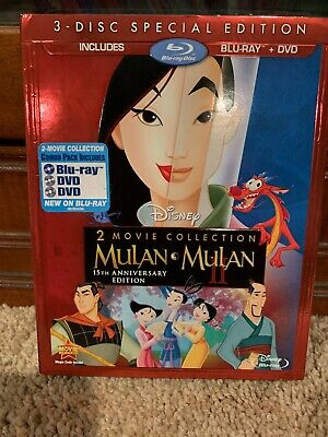 Mulan 1 And 2  -3 Disc Special Edition  Blu-ray + DVD