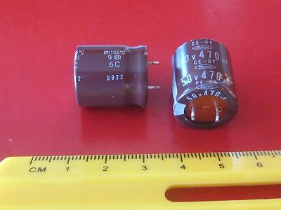 470uf 50v 105c SNAP-IN RADIAL ELECTROLYTIC CAPACITOR ( 100 Pcs )  *** NEW ***