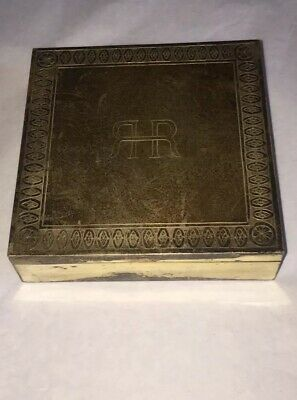 Vintage Sterling Silver Engraved Box 272 Grams