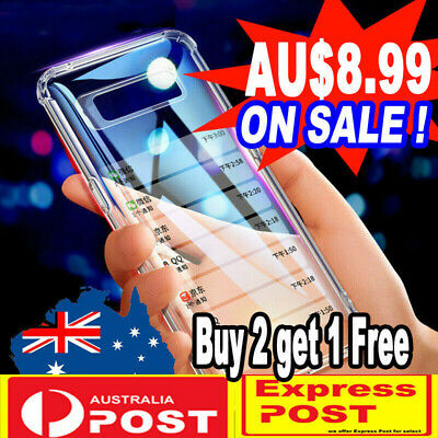 For Samsung Galaxy S10+ Plus S10 Clear Shockproof Slim Bumper Gel TPU Cover Case
