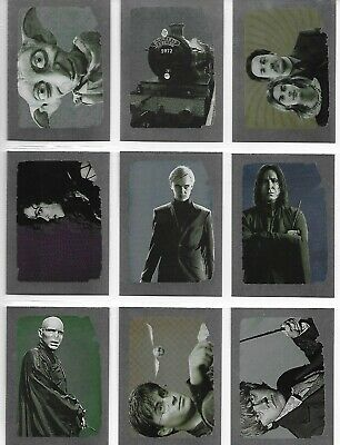Harry Potter and the Deathly Hallows Part 1 R1-R9 Complete Foil Insert Card Set