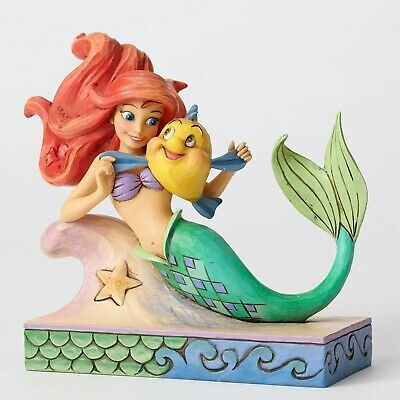 Disney Traditions Ariel with Flounder from The Little Mermaid Jim Shore 4054274