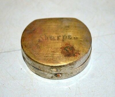 Vintage Old Collectible India Hand Crafted SHARPE Snuff Box Brass Powder Box