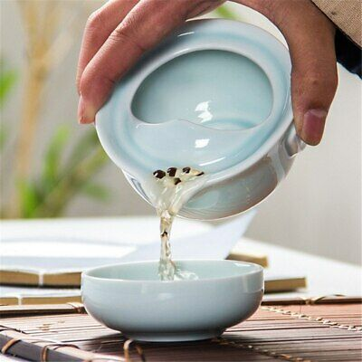 China Kung Fu Tea Set Ceramic Celadon 3D Carp 1 Tea Pot 1 Tea Cup Teapot Kettle