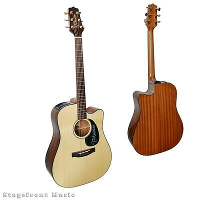 Takamine Acoustic /Electric G Series Guitar. Solid Spruce Top Eg340Sc **New*