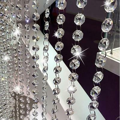 Clear Acrylic Plastic Chandelier Prisms Hanging Bead Wedding Party Decor CS