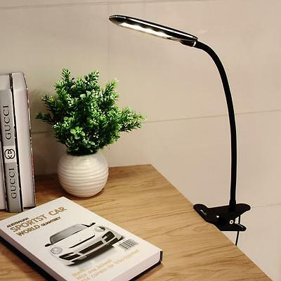 Dimmable Flexible USB Clip-On Desk 24 LED Table Reading Book Lamp 5W Light