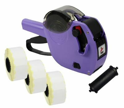 Purple Motex 2612 Date Coding Gun + Expiry Date Labels & Spare Ink