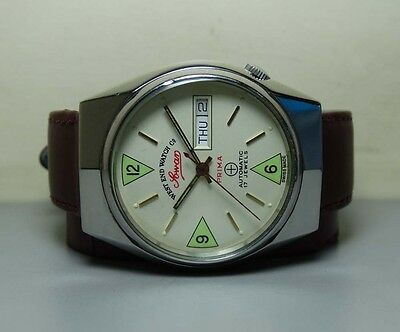 Vintage West end Military AUTOMATIC DAY DATE SWISS MENS Watch H613 Old Antique