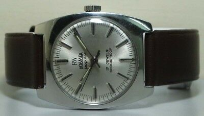 Vintage Roamer Winding Swiss Made Wrist Watch r604 old Used Antique