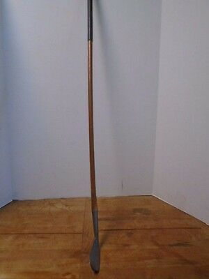 Harry Murdock Hand Forged Mid Iron Wooden Shaft Golf Club Vintage Shamrock