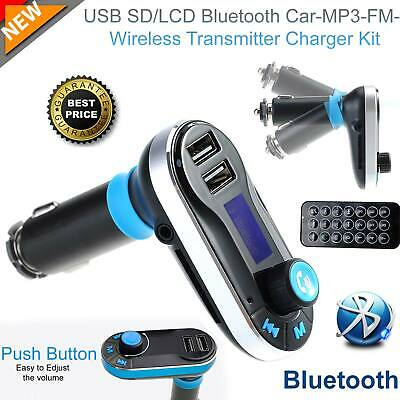 Wireless IN Car Bluetooth FM Transmitter MP3 Radio Adapter Car Kit USB Charger