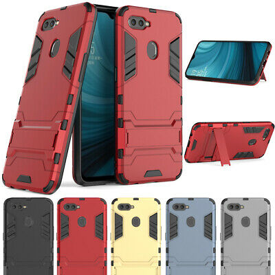 Slim Shockproof Hybrid Stand Tough Case Heavy Duty Hard Armor Cover For OPPO AX7