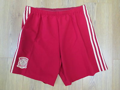 Player issue Spain 2013-15 home shorts adidas size L (World Cup 2014) *mint*
