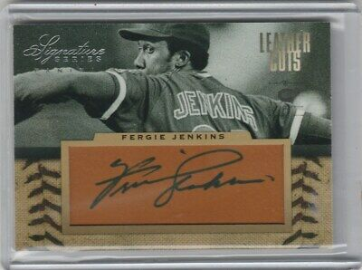 Fergie Jenkins 2012 Panini Signature Series Leather Cuts Auto Cubs #3/25