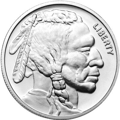 American Indian - Buffalo 1 Troy Oz .999 Silver Round