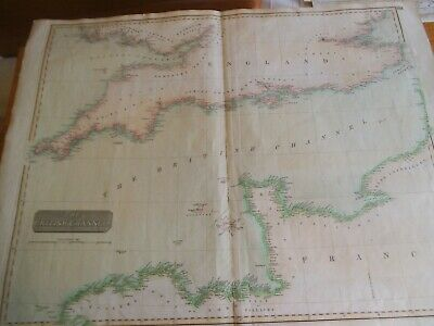 The British Channel.  Thomson`s General Atlas. 1814.