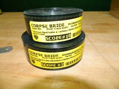 "2 35Mm Film Trailers From The 2005 Tim Burton Movie ""The Corpse Bride"" $2 Ship!"