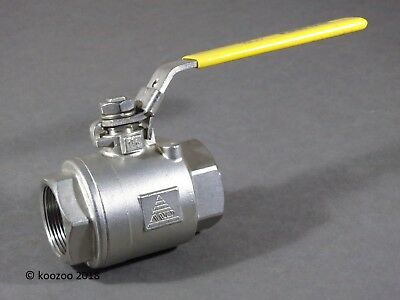"Md Modentic 1 1/2"" Bsp Stainless Steel Ball Valve 316 Cf8M 1000 Wog 69 Bar V106"