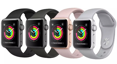 Apple Watch Series 3 - Various Colours/Sizes/Grades - Strap Included