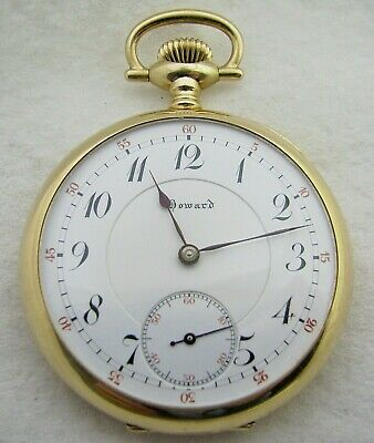 ANTIQUE 16s E HOWARD 14K SOLID GOLD 17 JEWEL SERIES 9 POCKET WATCH