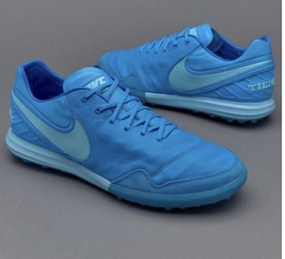 12c1e3127 Nike TiempoX Proximo TF Turf Mens Size 6 Soccer Shoes Blue 843962 444  Leather