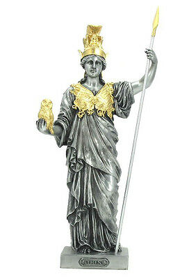 Athena - Greek Goddess of Wisdom and War Statue Sculpture Figure