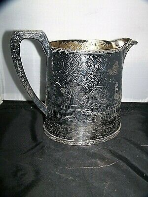 Antique  2024 Silver Plate Derby International Pitcher