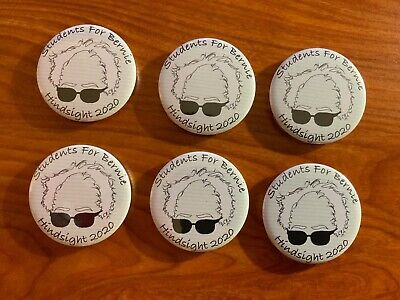 Students for Bernie Sanders 2020 Campaign Buttons - Lot of 6 - 2.25 inch