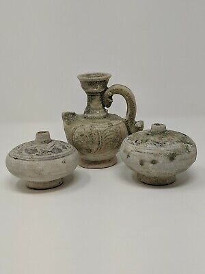 Asian Shipwreck Pottery Pottery (3) Pieces