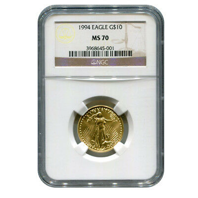 Certified American $10 Gold Eagle 1994 MS70 NGC