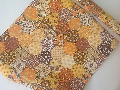 Vintage / Retro Original Roll of Wallpaper in Orange, Brown and Yellow