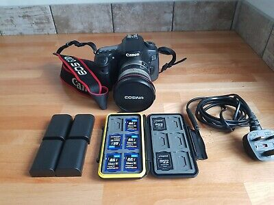 Canon EOS 60D 18.0MP Digital SLR Camera - Black bundle