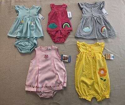 NWT CARTER'S BABY GIRL'S 2 pc DRESS & ROMPERS Size 3 Mo 6 Mo, 18-24 Mo,24 Months