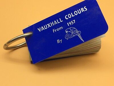Glasso Identification Classic Car Paint Swatches From 1957 to 1964 - Vauxhall