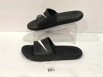11d24cc31 NIKE KAWA SHOWER Men s Slide Black White Slipper 832528 001 Free ...