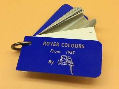 Glasso Identification Classic Car Paint Swatches From 1957 to 1964 - Rover