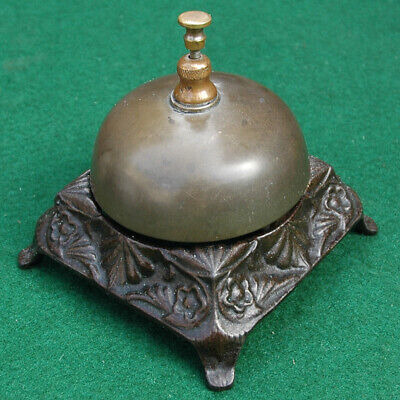 Vintage Late 19th Century Fancy Cast Iron Hotel Service Bell