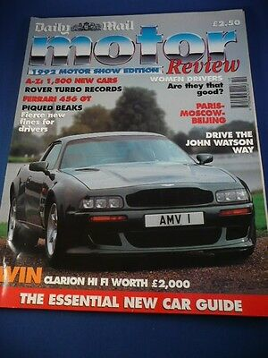 Daily Mail Motor Show Review 1992 Uk Freepost