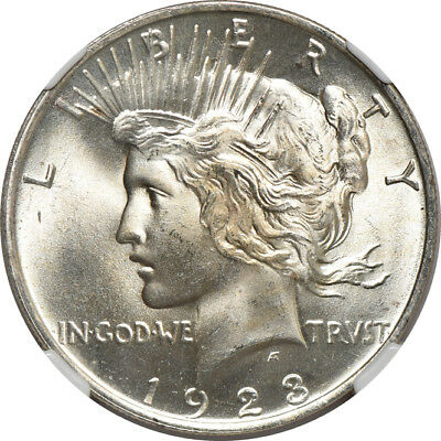 1923 Peace Dollar MS / Mint State 66 CAC, NGC S$1 C38867