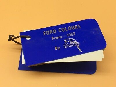 Glasso Identification Classic Car Paint Swatches From 1957 to 1964 - Ford