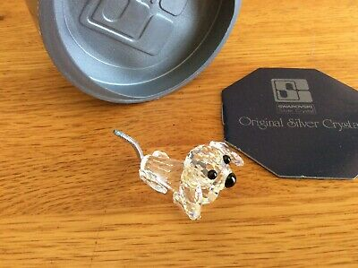 Swarovski Crystal Mini Dachshund Var 1- RETIRED 1988, still a looker!