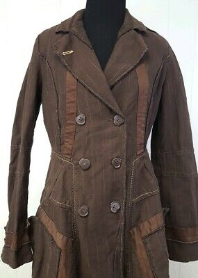 Made Coat Francois Girbaud Italy 29 Trench Sz Marithe In 35Rj4AL